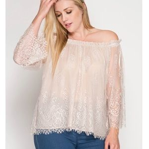 Lace Dreams Cold Shoulder Sleeves